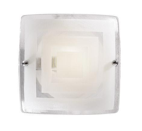 Купить со скидкой Светильник Cube 1201 квадрат 200*200 E14 1*60W белый/хром