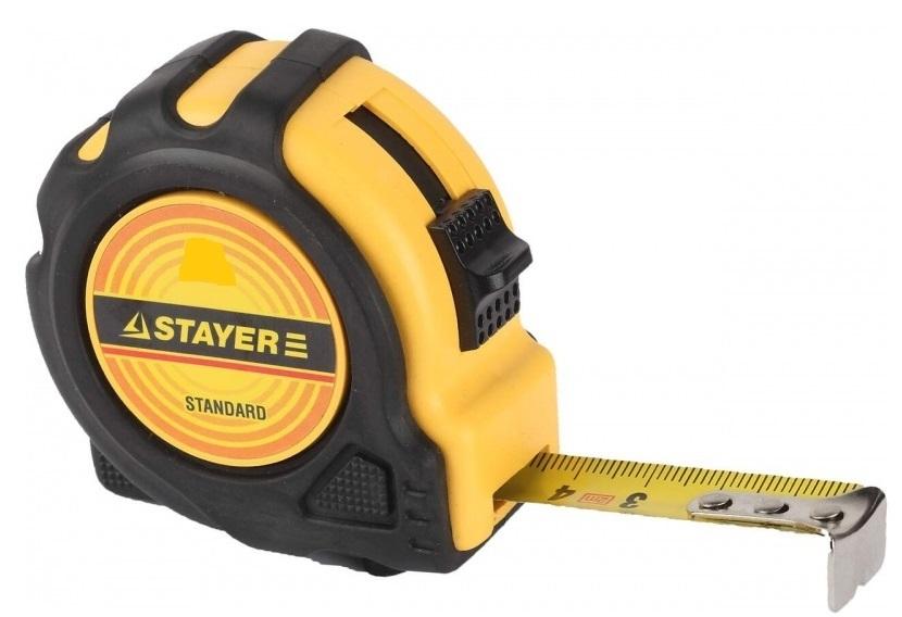 Рулетка Stayer Standard 2м*16мм, прорезиненный корпус 34025-02