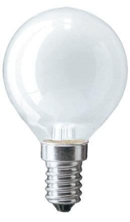 Лампа накал. Pila/Philips шар P45 Е27 60W матовая фото