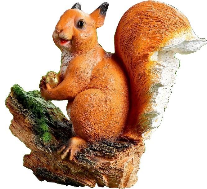 Купить Садовая фигура Белочка С Орешком 1090065, Хорошие Сувениры