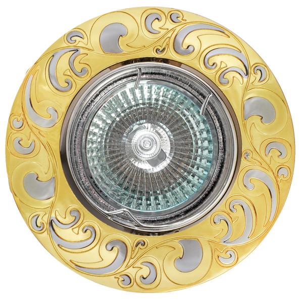 Купить Светильник De Fran Ft 182 Gch G5.3 золото/хром