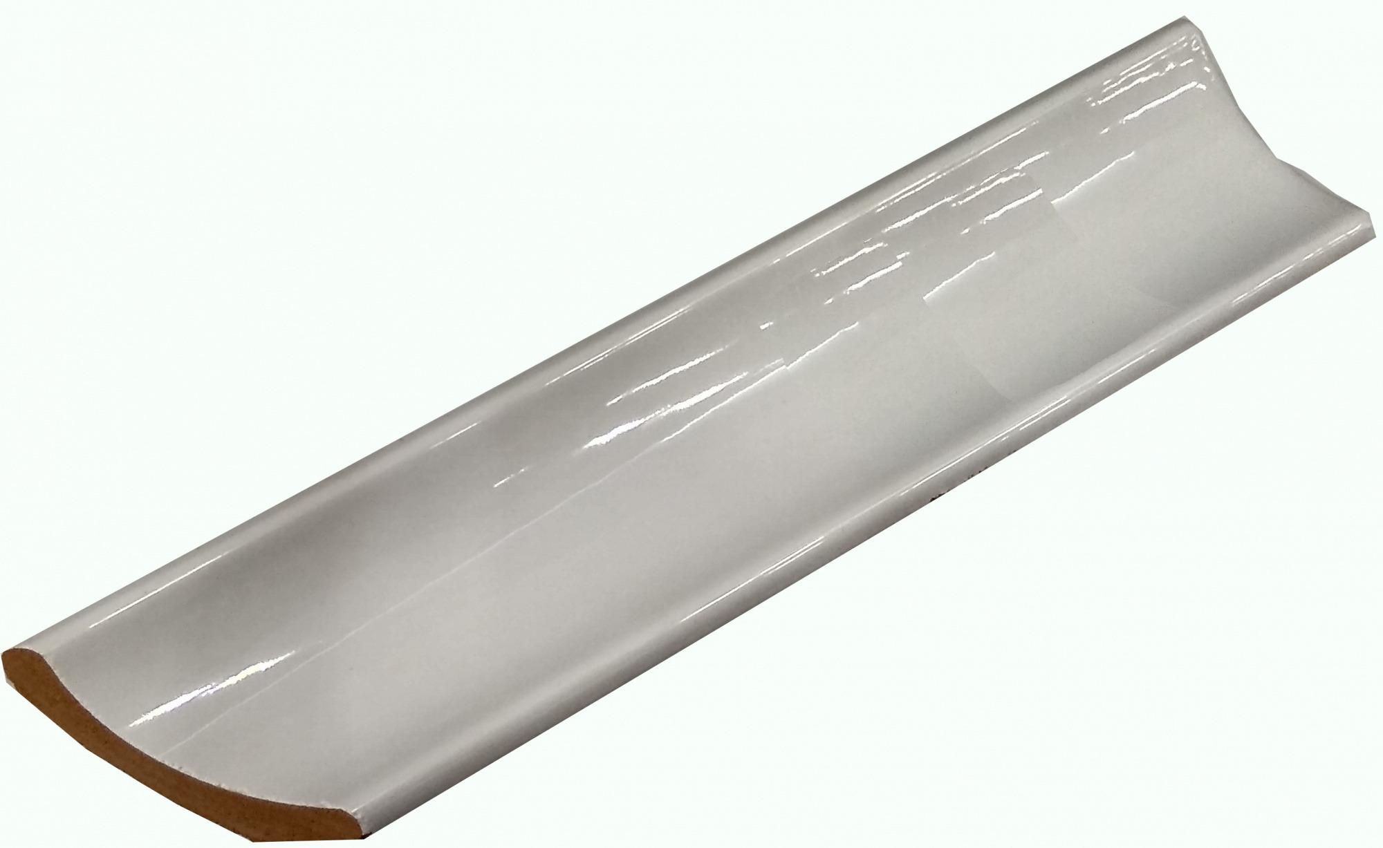 Уголок керамический Керами 250х55, срез правый белый Широкий