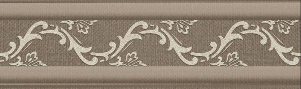 7,5Х25 Бордюр керамический Винтаж 01 коричневый фото