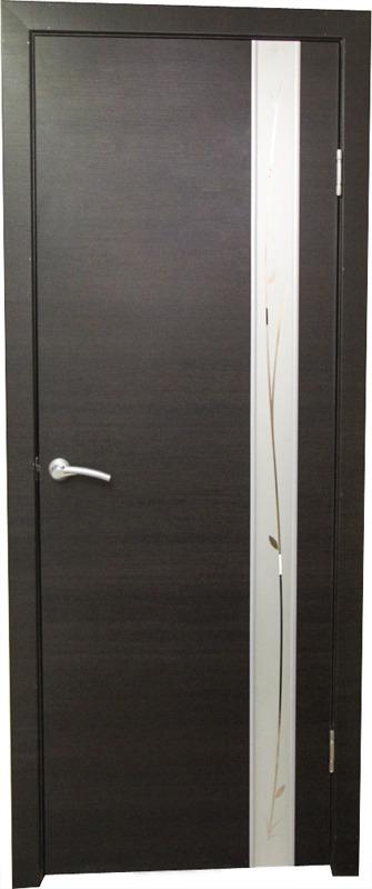 Купить со скидкой Дверь пвх Стиль1 900х2000мм венге гор стекло белое