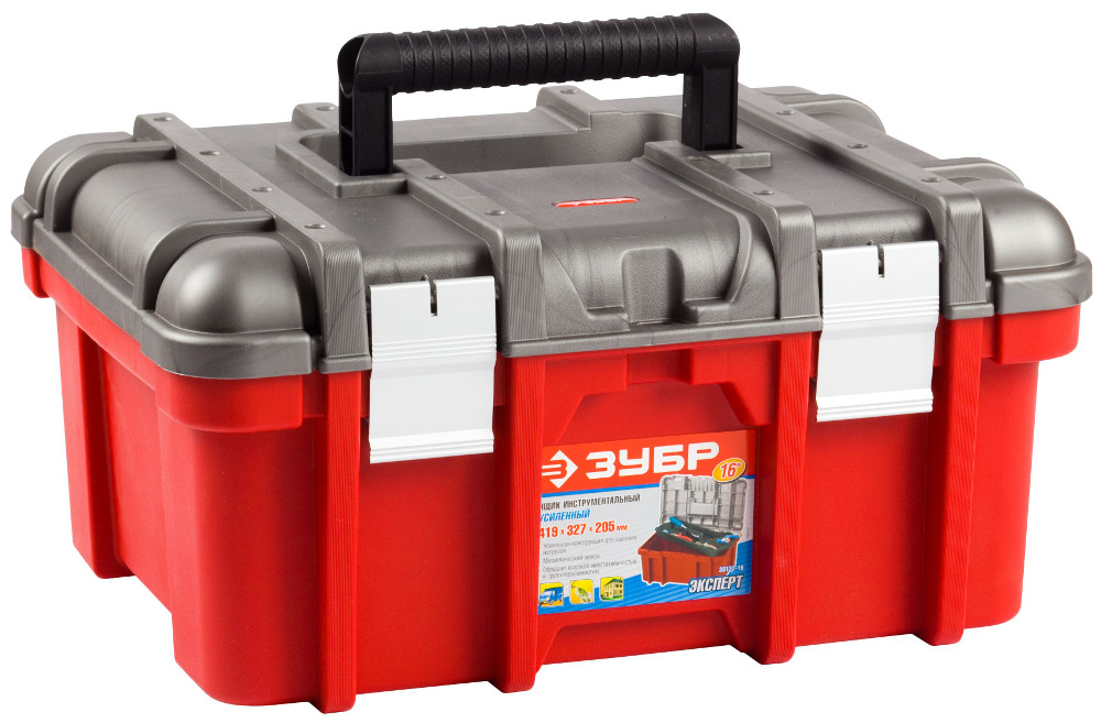 Купить Ящик для инструмента 419*327*205мм Зубр Эксперт 16 пластиковый замок 38132-16
