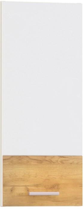 Фасад кухонный Адель Белый гл./Дуб тортуга 300х680мм фото