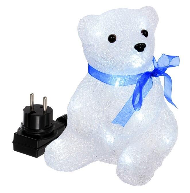 Купить со скидкой Декоративная фигурка Медвежонок акриловая 16 холодных ламп 14*14*17,5 см 55101