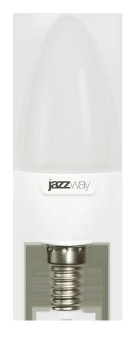 Купить со скидкой Лампа светодиодная JazzWay свеча C37 Е14 230V 9W 5000K холод.