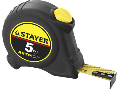 Рулетка STAYER MASTER AUTOLOCK 5м*19мм автостоп 2-34126-05-19_z01