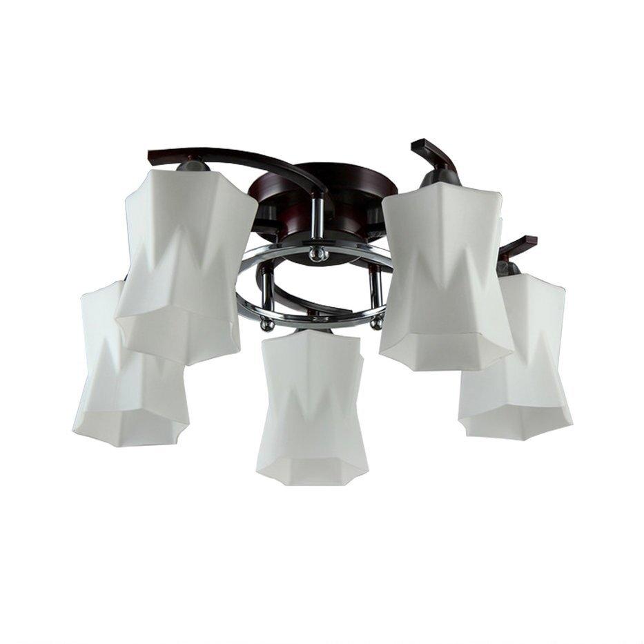 Купить Люстра Rubi 5хЕ27х60Вт Венге Тс-110-803, венге, металл, TOSCOM Rubi