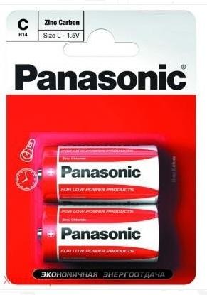 Элемент питания Panasonic Zinc Carbon R14/343 Bl2