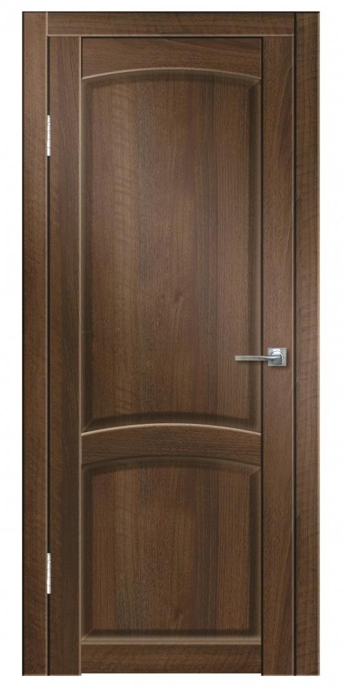 Купить Дверь пвх Румба 800х2000мм орех тисненный глухая, Дверная Линия, итальянский орех, деревянный массив, ЛВЛ, МДФ