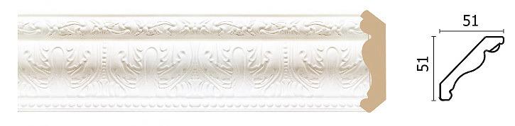 Купить Карниз 155-115 2.4м, Decor-Dizayn, белый, полиуретан