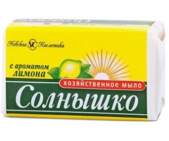 Мыло хозяйственное Солнышко Лимон 140г фото