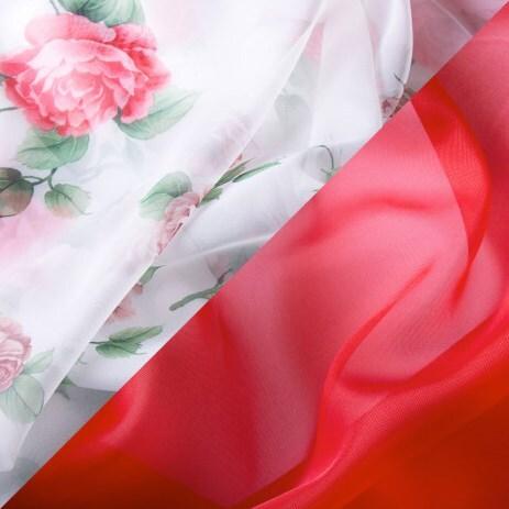 Купить Комплект штор для кухни 240х160 Арина красный, Witerra, вуаль