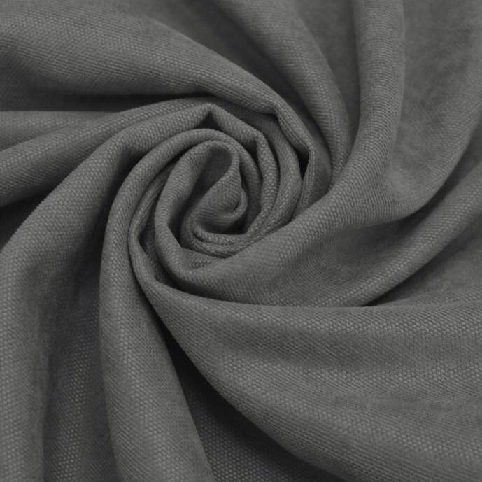 Штора портьера вельвет 200х270 серый люверсы Rr 1403-340 фото