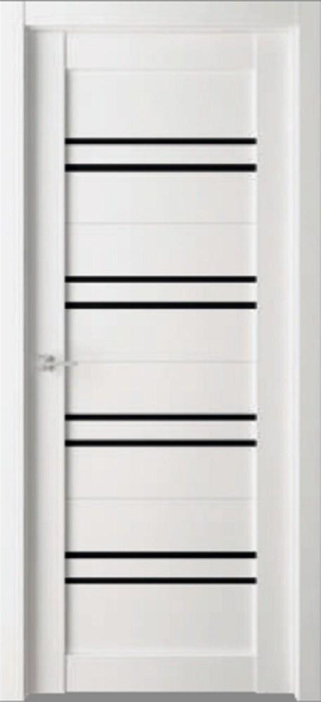 Дверь экошпон Пвх Дельта D1 700х2000мм сатинат/белый бьянко фото
