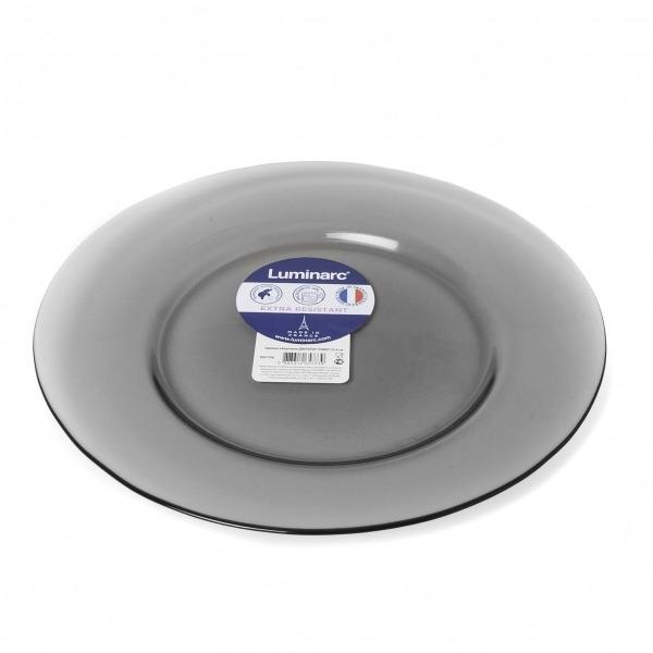 Купить Тарелка обеденная 24.6 см Lumanarc Директор Графит N5758, Luminarc, серый, стекло