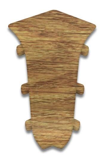 Плинтус Идеал Люкс уголок внутрен. Дуб янтарный (2шт.) фото