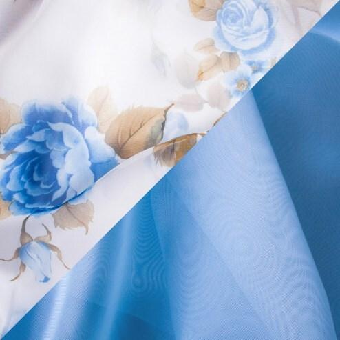 Купить Комплект штор для кухни 285х160 Нежность голубой, Witerra, вуаль