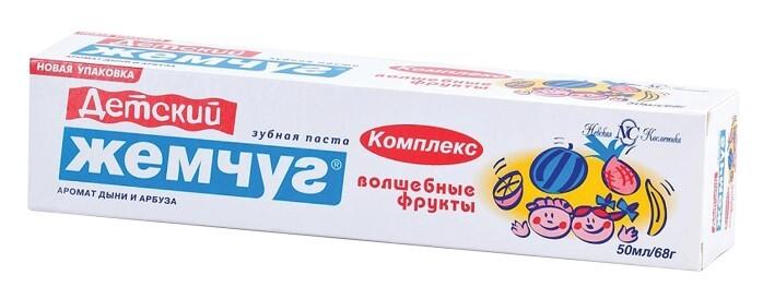 Паста зубная Детский Жемчуг Волшебные фрукты 50мл