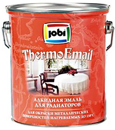 Купить со скидкой Эмаль Jobi Thermoemal Y34 термостойкая полу/матовая 0,9л до 150*С