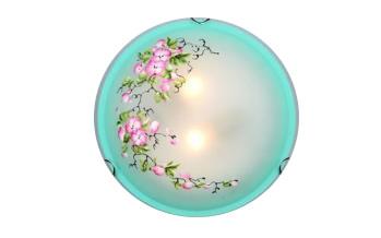 Купить со скидкой Светильник Сакура Рс-117 круг d300 зеленый 2*60W