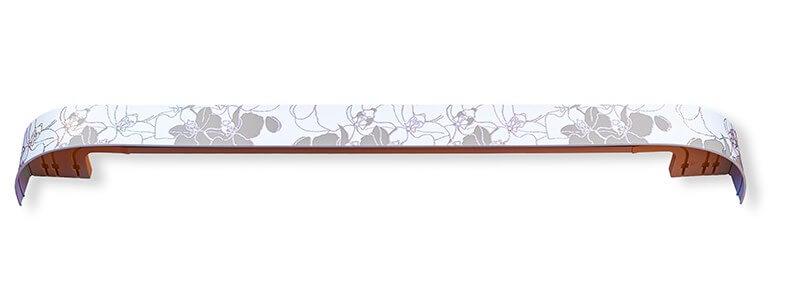 Карниз Модерн 200см. 3-х рядный белая орхидея фото