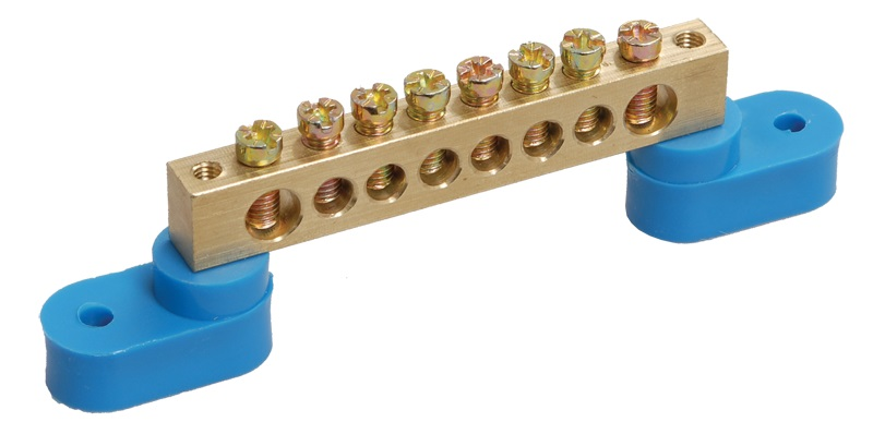 Шина нулевая Iek 6*9-10 на 2 углов. изоляторах