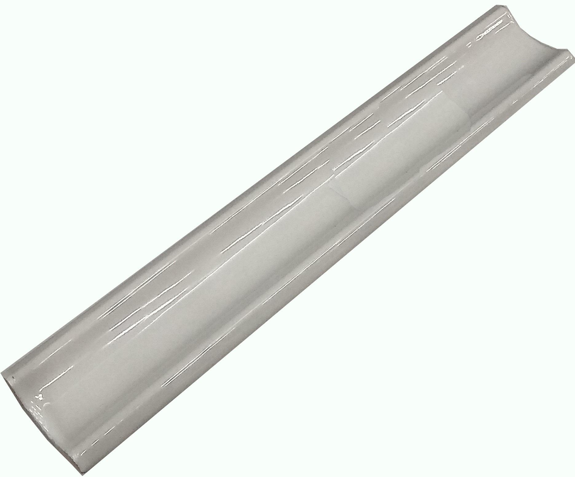 Уголок керамический Керами 200х35, прямой белый Узкий