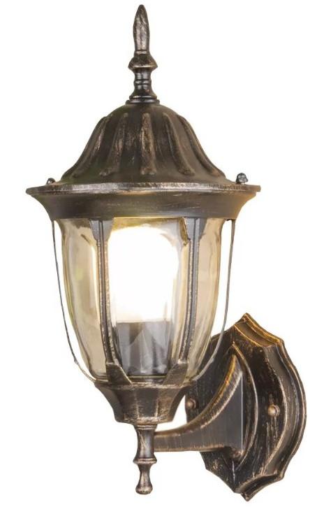 Купить со скидкой Светильник уличный Gl 1002U настенный черное золото Ip44
