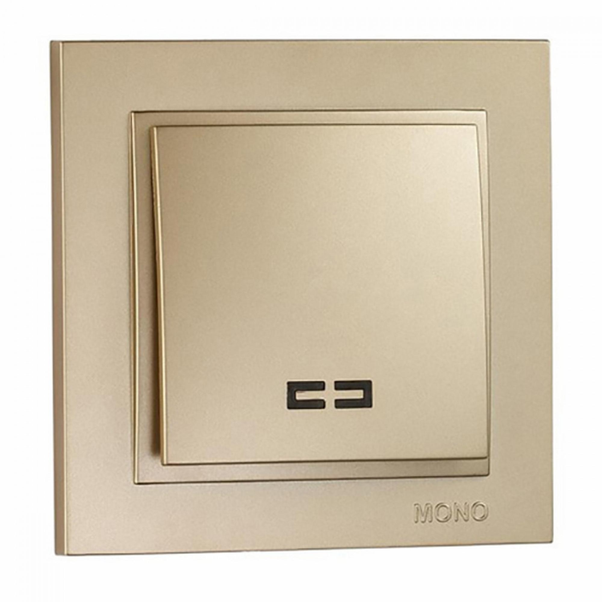 Купить со скидкой Выключатель Mono Despina 1кл с подсветкой титан 102-222225-101