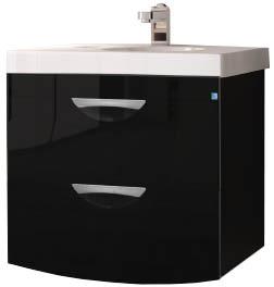 Купить со скидкой Тумба-раковина Жасмин-2 60 люкс черный (Next 60) подвесная