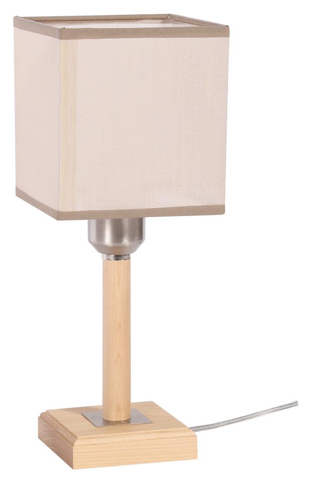 Купить Настольная лампа КАНТ1хЕ27х40Вт натуральный 154-31-11Т, Дубравия