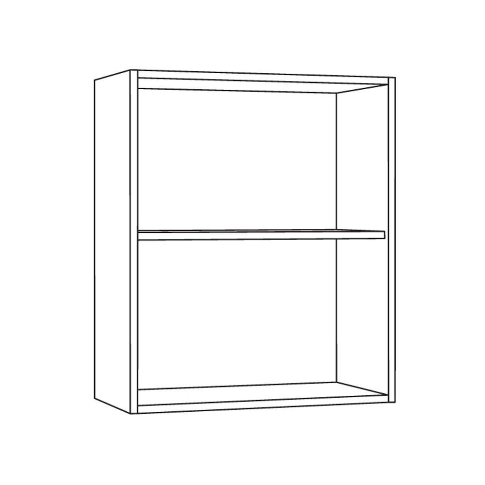Купить со скидкой Шкаф навесной для гарнитура 600х318х680мм белый (без фасада)