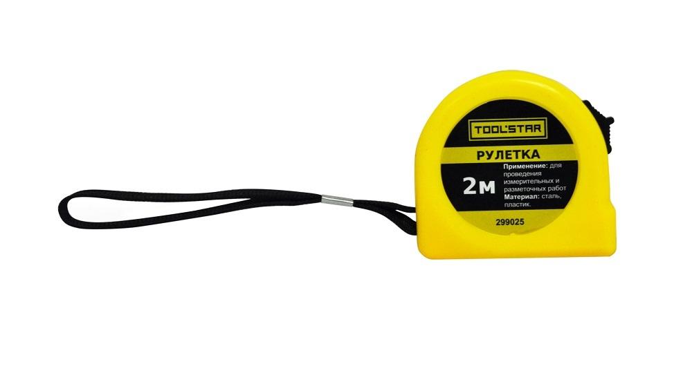 Рулетка Toolstar/Homeproffe 2мх12мм, пластиковый корпус 299025
