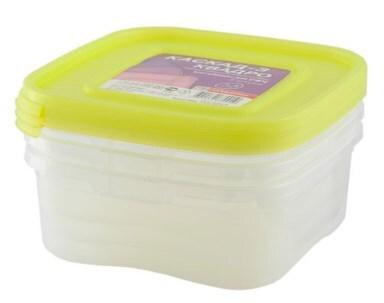 Купить Комплект контейнеров Каскад для Свч 1, 4л квадро 3шт, арт.68001, Полимербыт, пластик