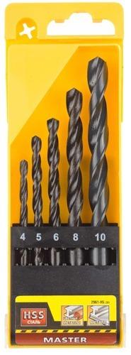 Купить со скидкой Набор сверл по металлу Stayer 4,5,6,8,10мм 2961-H5_z01