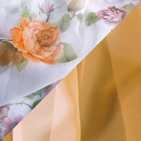 Купить Комплект штор для кухни 285х160 Нежность персик, Witerra, персиковый, вуаль