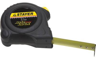 Рулетка Stayer АutoLock 3м*16мм, прорезиненный корпус, автостоп 2-34126-03-16_z01
