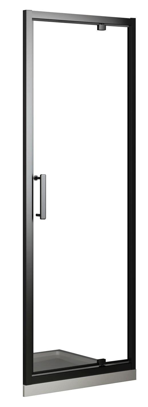 Купить со скидкой Дверь распашная Villagio 90*190см прозрачное стекло 8мм черный профиль K669mb