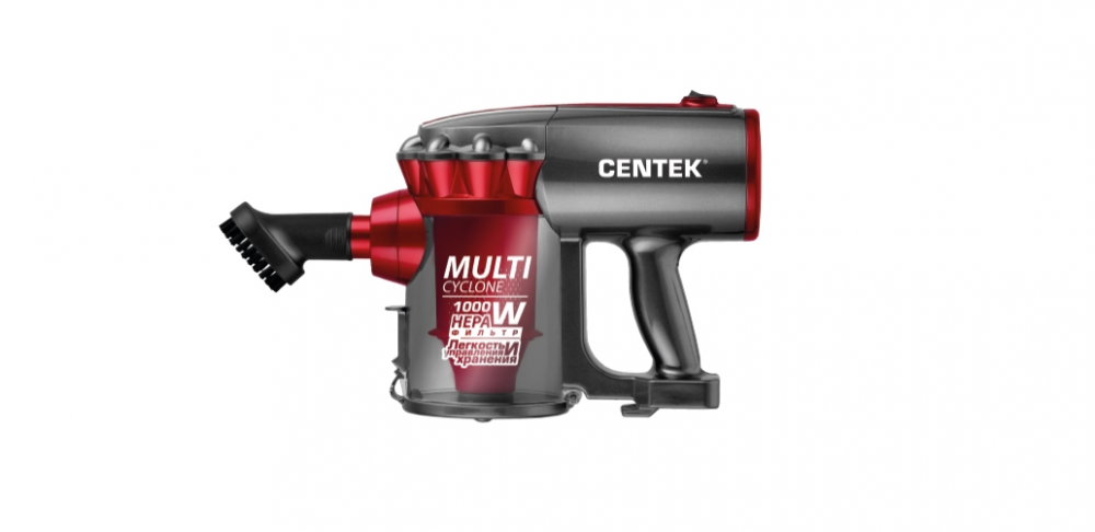 Купить со скидкой Пылесос вертикальный Centek Ct-2561 красный/черный