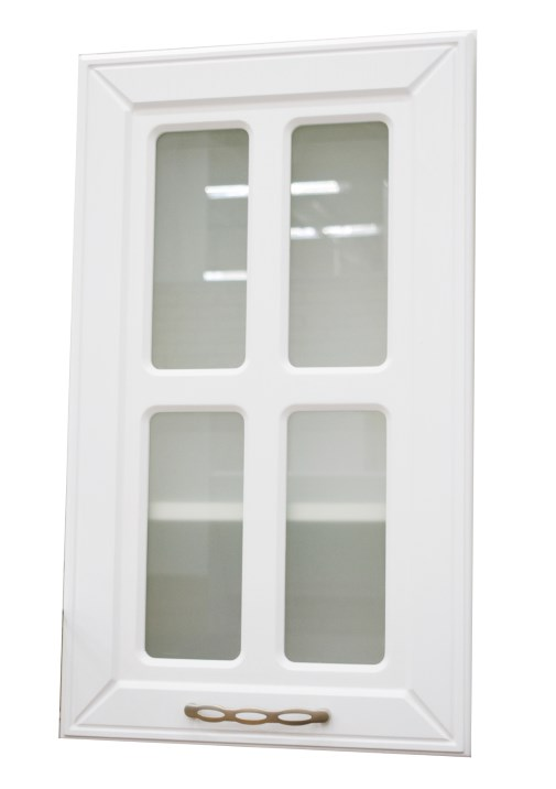 Купить со скидкой Фасад кухонный Маргарита Белое дерево 400х680мм витрина