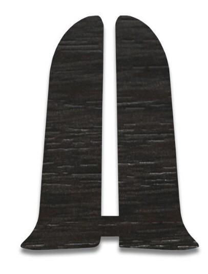 Плинтус Идеал Люкс заглушка для плинтуса Венге темный (пара) фото