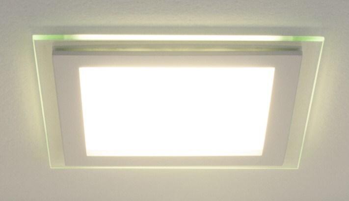 Светильник светодиодный встраиваемый 12W квадрат 160*160 4200K белая подсветка Dlks160 фото