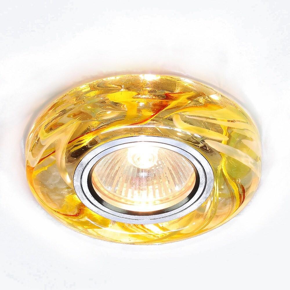 Светильник потолочный встраиваемый Elektrostandard 2191 Mr16 G5.3 50 Вт Cl/Yl/Gr прозрачный желтый зеленый фото