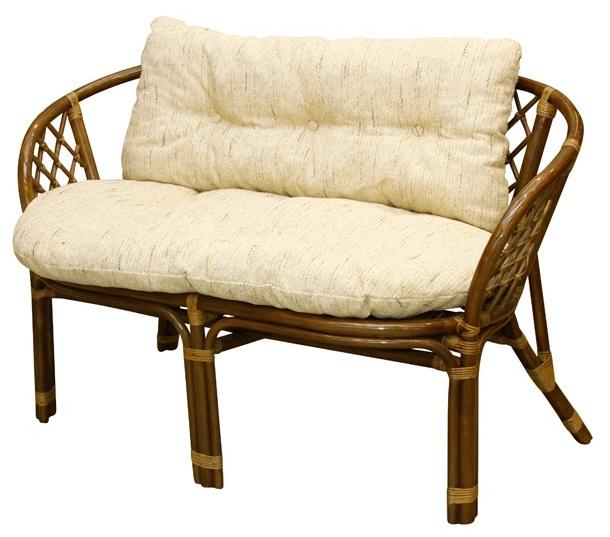 Купить М-Ми-Ротанг Bahama Диван 2-Х Местный С Подушками Орех, Rattandesign, коричневый