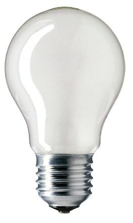 Лампа накал. Pila/Philips груша A55 Е27 75W матовая фото