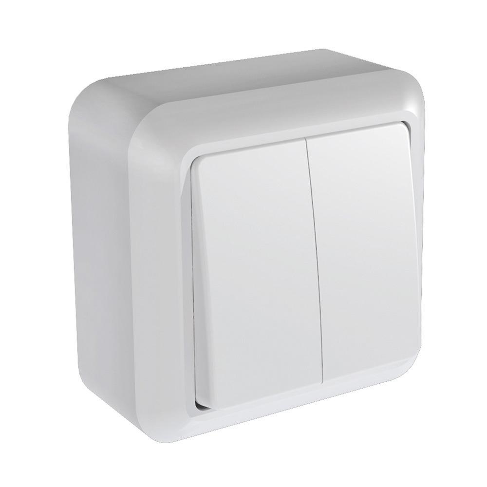 Выключатель Кунцево Электро Оптима А510-380 2-кл. белый фото