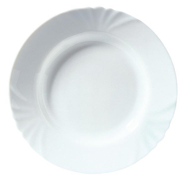 Купить Тарелка суповая 23 см Luminarc Кадикс глубокая J6691, белый, стекло